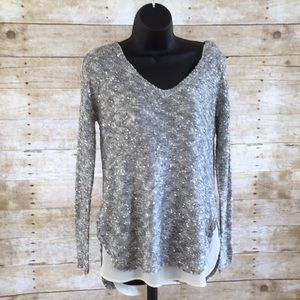 Sequin Sweater with Sheer Undertank - Size S